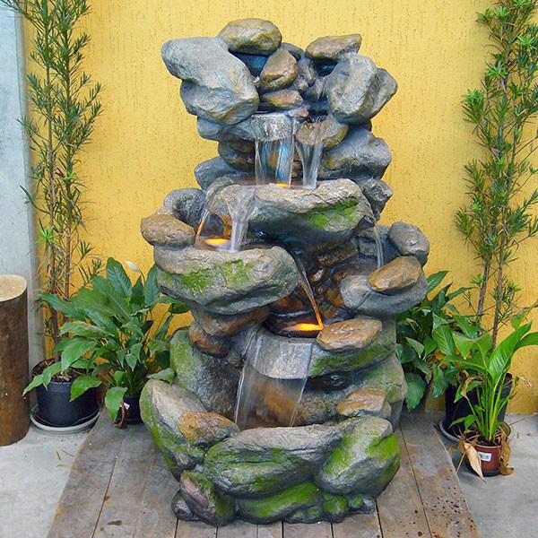 fontes de agua para decoracao de interiores : fontes de agua para decoracao de interiores:fonte de jardim tributo a netuno fonte de jardim com lâmpadas led